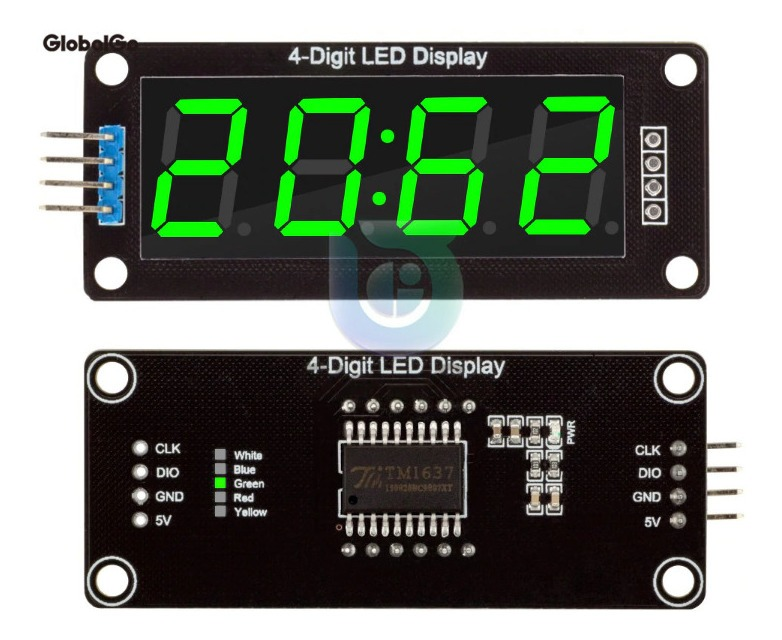 Display 7 Segmentos 4 Bit Dígitos Tm1637 Módulo Para Arduino