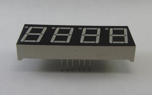 display 7 segmentos catodo comun 4 digitos - pic atmel avr