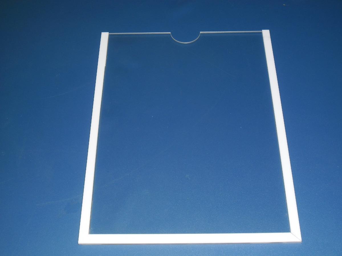 display acr lico de parede p a4 com moldura 5 un r