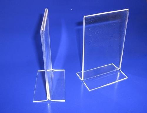 display acrílico mesa t invertido 1 pç 10x15cm porta folder
