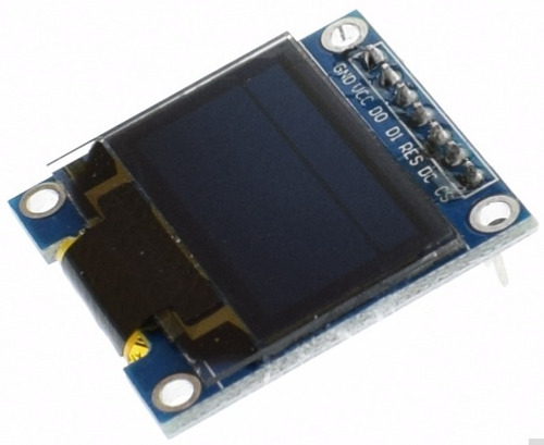 display azul oled 0.96'' spi  128x64 arduino pic