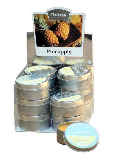 display com 12 velas em lata - diversos aromas