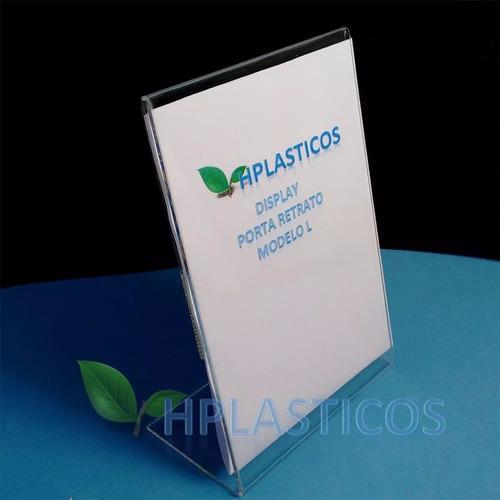 display de acrilico a4 porta folha para balcão kit 15