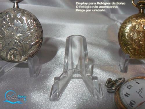 display em acrilico excelente acabamento relogio de bolso