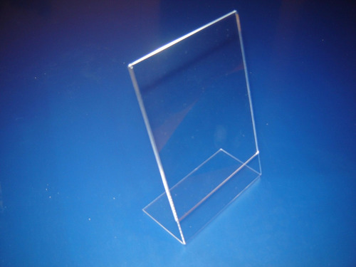 display expositor acrílico 10x15cm 10pç balcão mesa cardápio