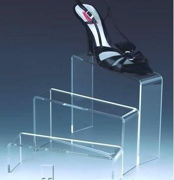 display expositor acrílico calçados sapatos kit 6 peças
