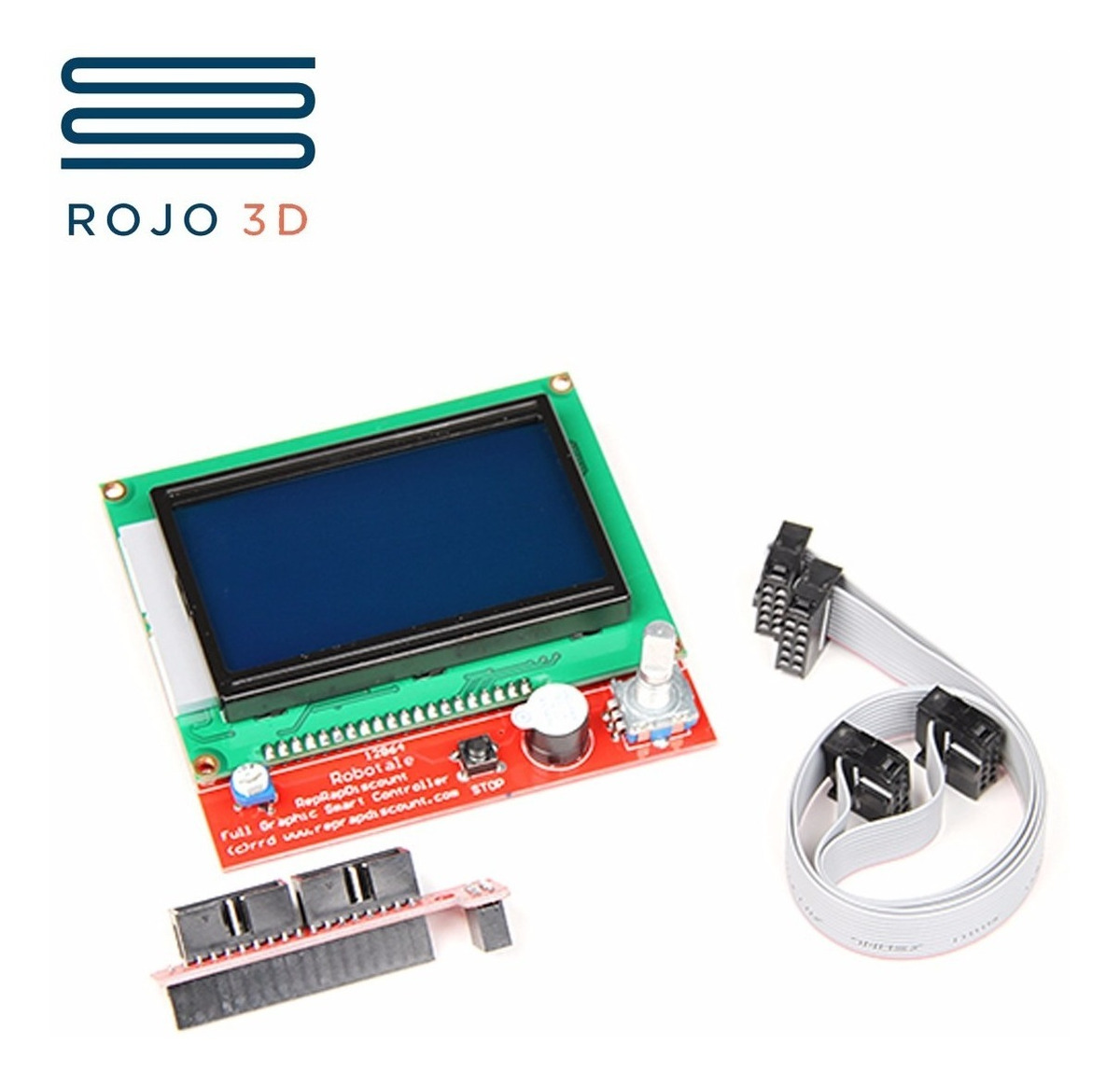 Display Full Graphic Lcd Azul Arduino #rojo3d