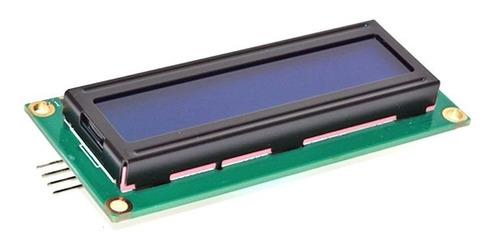 display lcd 1602 16x2 azul hd44780 con i2c soldado arduino