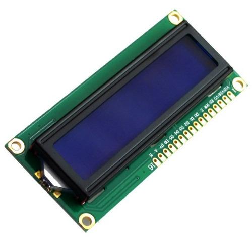 display lcd 16x2 1602 com fundo azul e blacklight arduino