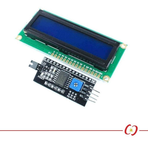 display lcd 16x2 serial i2c com backlight azul