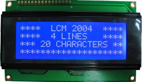 display lcd 2004 backlight azul 20x4 hd44780 5v