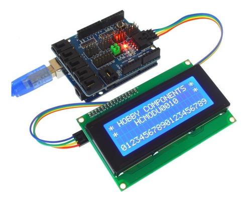 display lcd 2004 backlight azul 20x4 + serie i2c arduino