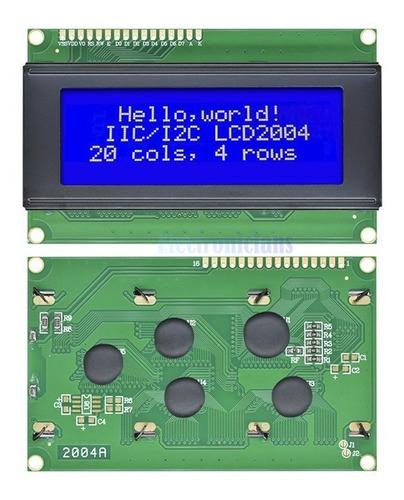 display lcd 20x4 azul escrita branca arduino-lcd-robotica