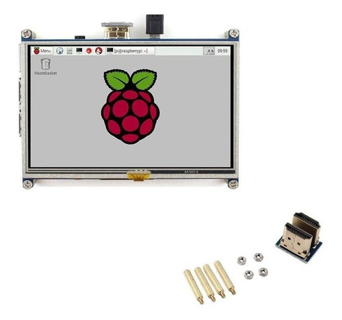 display lcd 5  touch screen para raspberry pi 3