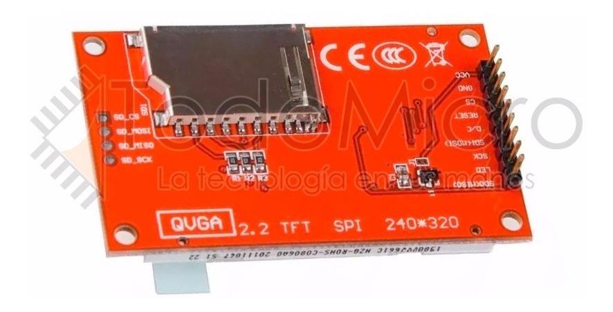 Display Lcd Color Tft 2 2 240x320 Spi Con Sd Ili9341 Arduino