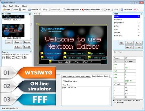 display lcd touch  nextion 5 pol tft 800x480 arduino