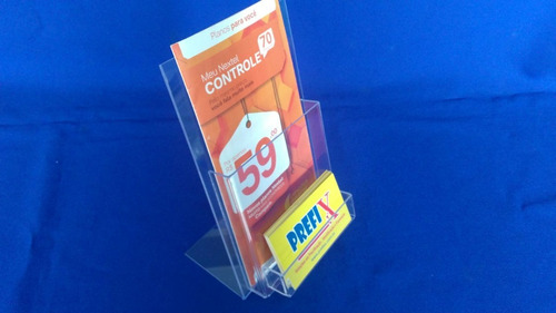 display mesa porta folder com cartão a6 ps(similar acrilico)