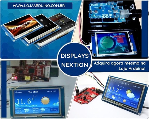 display nextion ihm led touch 4.3 arduino pic clp (4005-1)