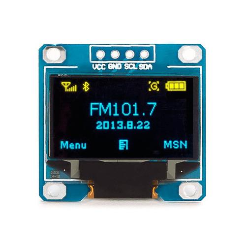 display oled 0.96 i2c azul amarelo