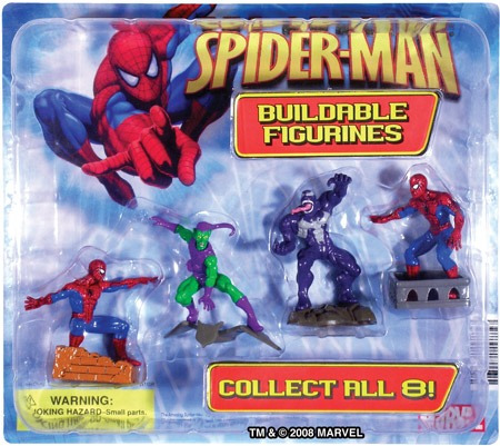display original spiderman set 4 figuras en caja colección