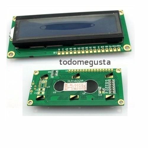 display pantalla lcd 1601 hd44780 16x2 fondo azul arduino