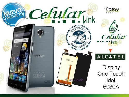 display, pantalla touch original alcatel one touch idol 6030