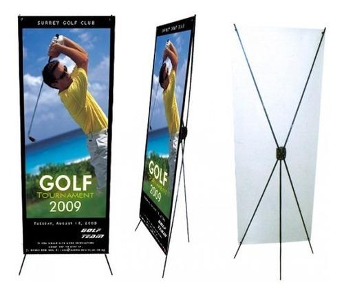 display porta banner eco 80x180 para lona publicitaria
