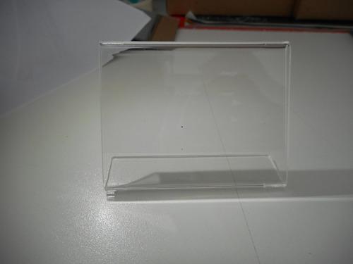 display porta preço etiqueta acrílico kit 20pç