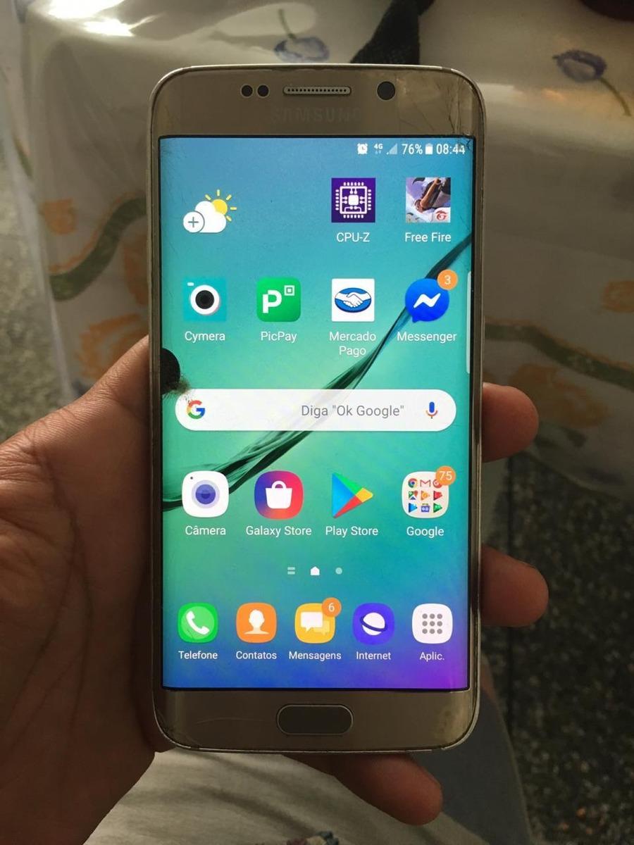 Display S6 Edge 925 Trincado Funcionando