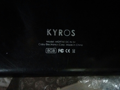 display  tablet 9 koby kyros. mid 9742