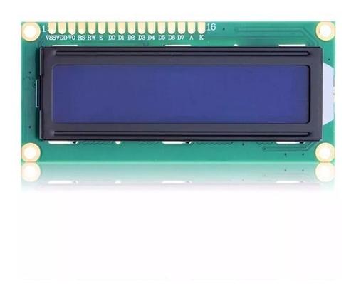 display tela lcd 16x2 1602 backlight azul arduino -5 unidad