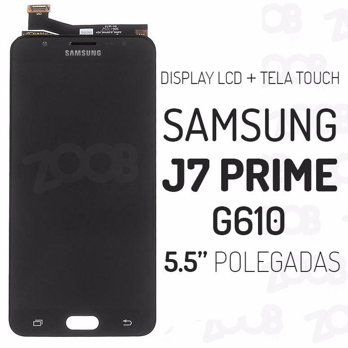 display tela touch samsung j7 prime g610 original c/ brilho