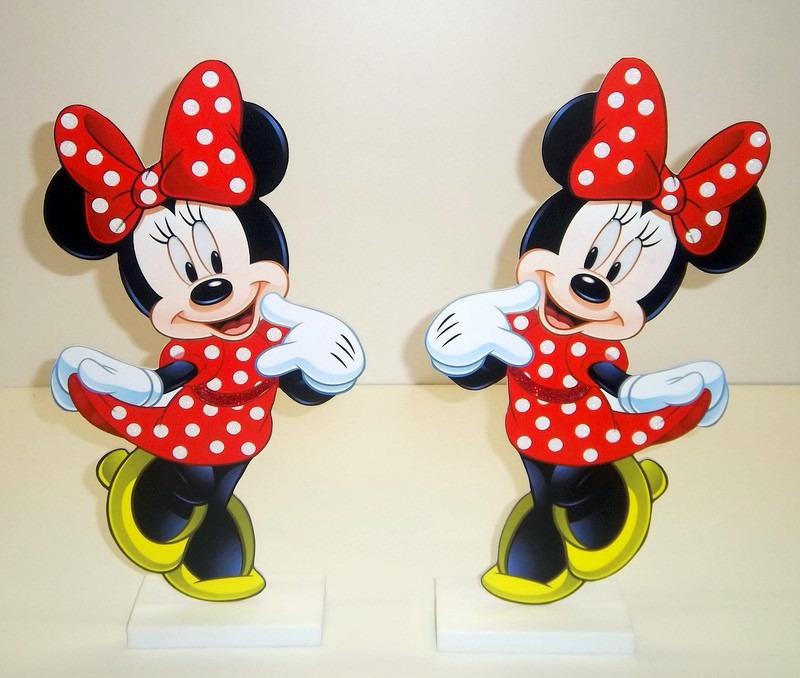 Display Tema Minnie Vermelha Mesa Decoração Provençal  R$ 96,00 em