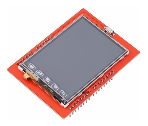 display tft 2.4 touch screen lcd shield p/ arduino