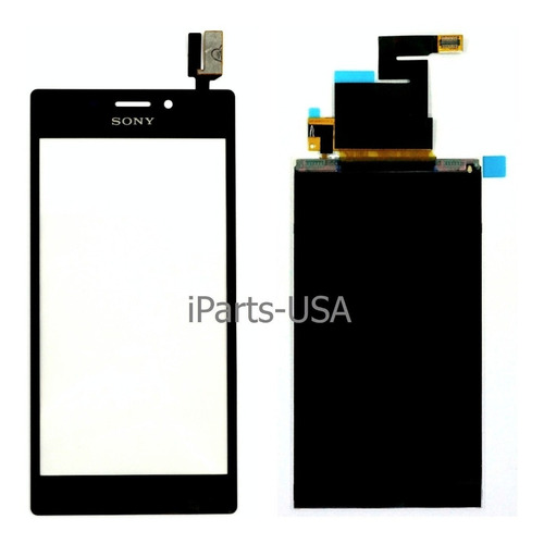 display+touch negro para sony xperia m2 d2302 d2305 d2306