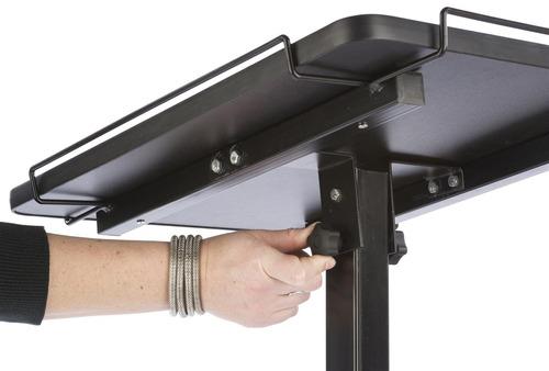 displays2go laptop and projector cart, estantes antideslizan