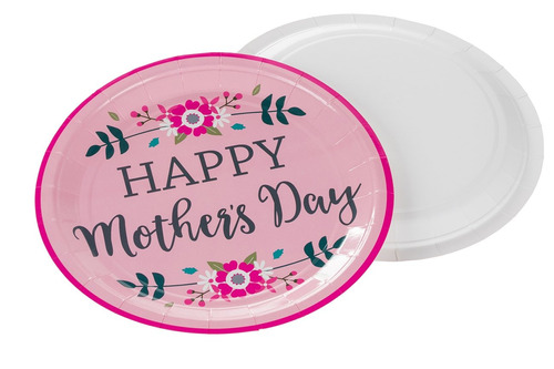 disposable plates set - 80-pack mother's day party supplies