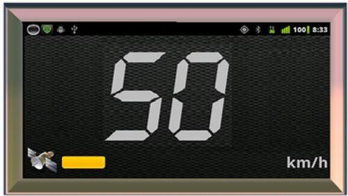 dispositivo de control de velocidad satelital