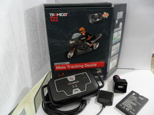 dispositivo de seguridad moto tramigo t22- estilo callejero.