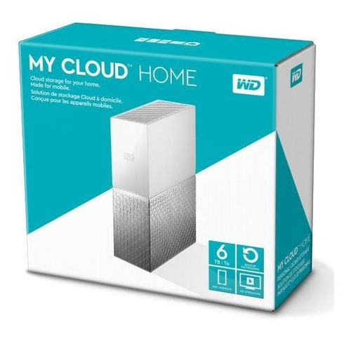 dispositivo externo wd my cloud home 6tb personal cloud stor