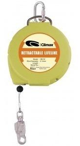 dispositivo retráctil de 15mt c/cable de acero  climax