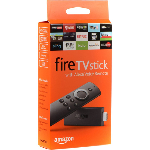 dispositivo tv stick amazon fire con control de voz alexa