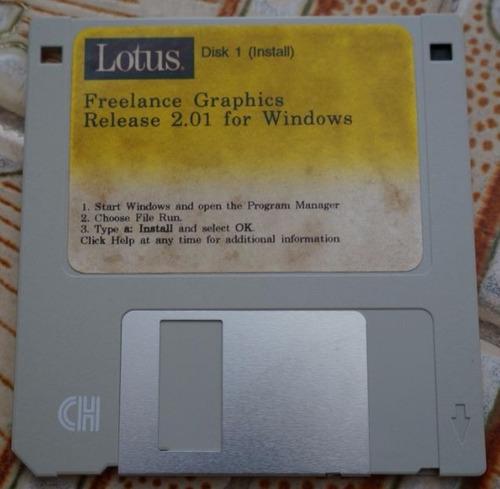 disquete lotus disk 1 - instalação
