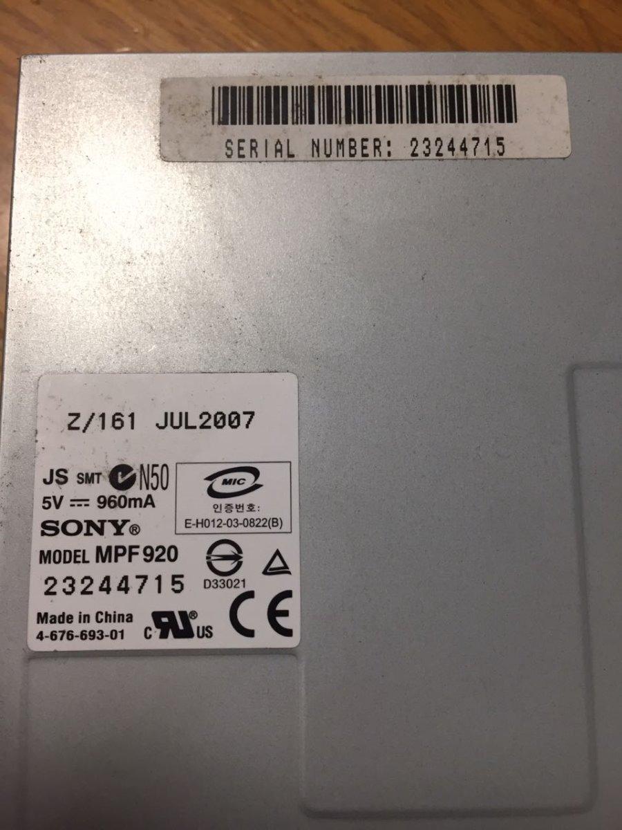 DISQUETERA SONY MPF920 WINDOWS XP DRIVER DOWNLOAD