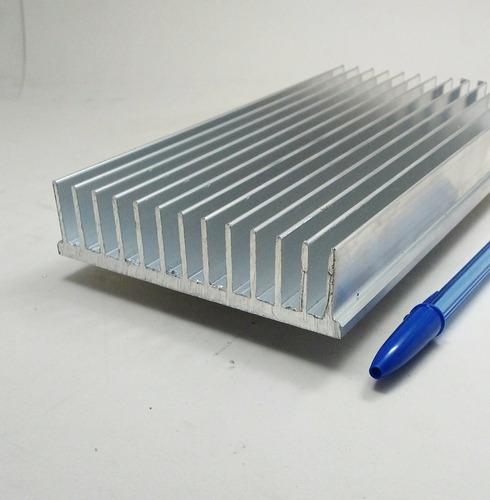 dissipador de calor aluminio 50cm comp.x10,4cm larg.x2,5 alt