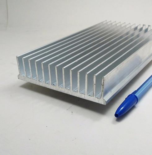 dissipador de calor aluminio 80cm comp.x10,5cm larg.x2,5 alt