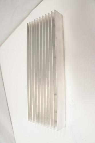 dissipador de calor alumínio montagem diversas 28,2x10,2x3,5