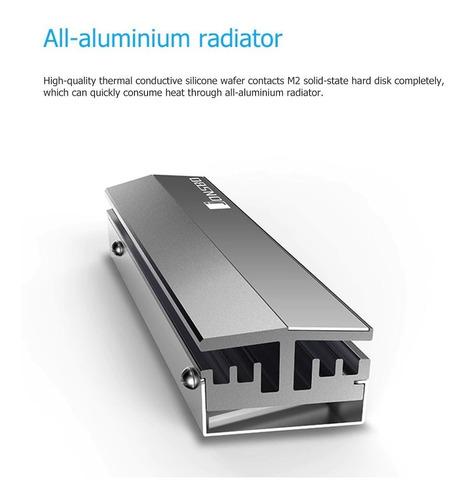 dissipador de calor ssd m.2 nvme sata 2280 aluminio
