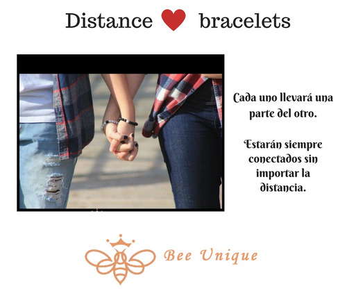 distance bracelets, pulsera parejas, brazalete distancia