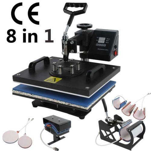 distancia 8 en 1 calor prensa máquina transfer sublimación